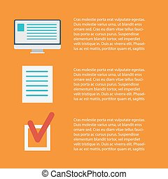 Flat concept of documents for business - vector illustration