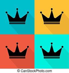 Flat crown icon.