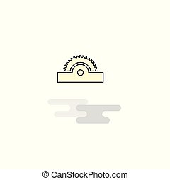 Flat Cutter Icon. Vector