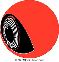 Flat cyborg eyeball - Simple flat eyeball of a cyborg...