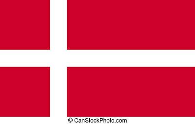 flat danish flag
