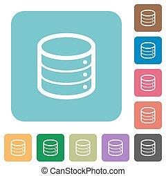 Flat database icons