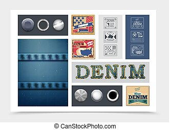 Flat Denim Composition