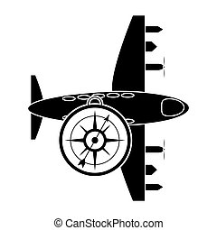 airplane and compass icon