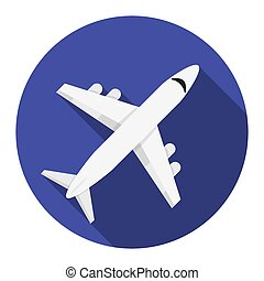 Flat design airplane icon