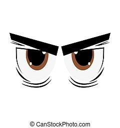 angry cartoon eyes icon
