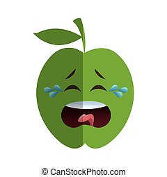 apple cartoon icon