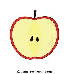 apple half icon
