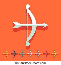 Flat design: archery