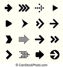 arrow icon set.