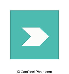 arrow pointing right inside square icon