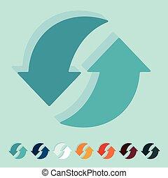 Flat design: arrow recycling