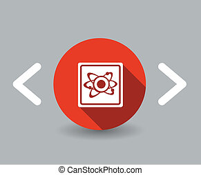 flat design atom icon