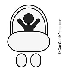 baby in stroller icon