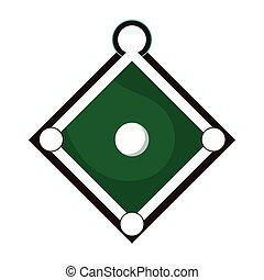 baseball field icon - flat design baseball field icon vector...