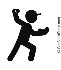 baseball pictogram icon