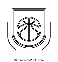 basketball theme emblem icon
