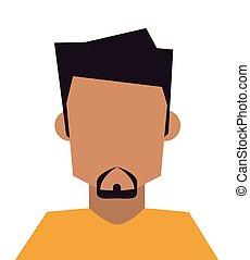 bearded faceless man icon - flat design bearded faceless man...