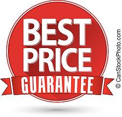 Flat design best price guarantee, vector illustration