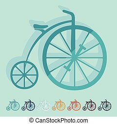 Flat design: bicycle