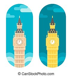 Flat design Big Ben illustration vector
