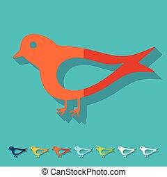 Flat design: bird