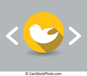 flat design bird icon