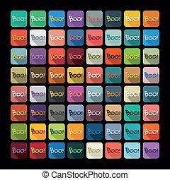 Flat design: boo