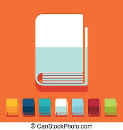 Flat design: book