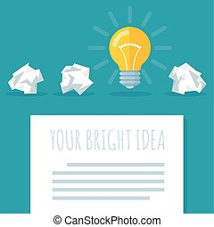 Flat design bright idea abstract - Flat design bright idea...