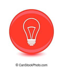 flat design bulb vector icon