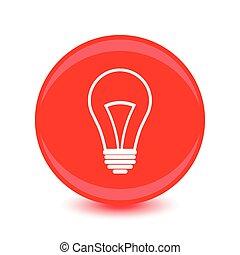 flat design bulb vector icon