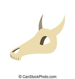 bull or cow skull icon - flat design bull or cow skull icon...