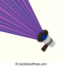 Flat design business Vector Illustration concept Empty template copy space isolated Posters coupons promotional material Megaphone Announcing Loudspeaker Extending Volume Power with Half Rays