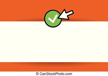 Flat design business Vector Illustration Empty template esp isolated Minimalist graphic layout template for advertising Arrow cursor pointing to Round Button on the left side Pointer pressing