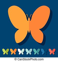 Flat design: butterfly