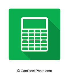 Flat design. Calculator icon