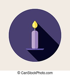 Flat design candle icon