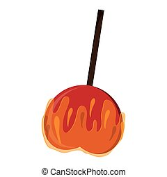 caramel apple icon
