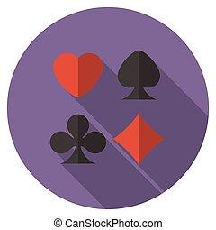 Flat design cards icon