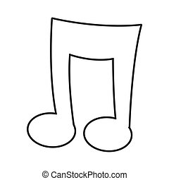 cartoon music note icon