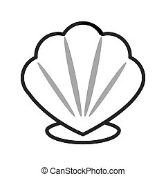 cartoon seashell icon