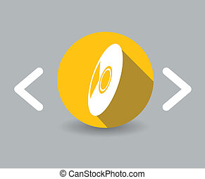 flat design cd icon