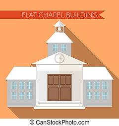 Flat design chapel or church