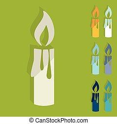 Flat design: christmas candle
