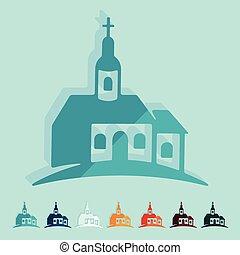Flat design: church