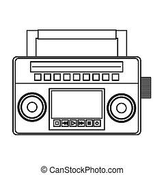 classic boom box icon - flat design classic boom box icon ...