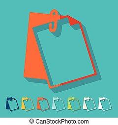 Flat design: clipboard