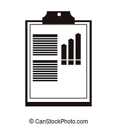 clipboard with graph icon