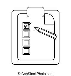 clipboard with pencil icon